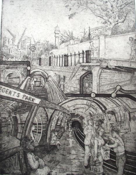Tube Etching   ( Regents Park )